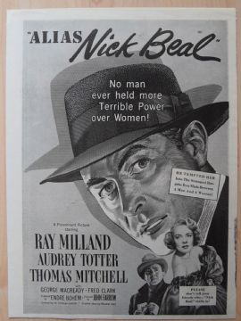 Alias Nick Beale (aka The Contact Man) - Vintage Trade Ad